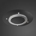 Luxair 90cm Cosmic Ceiling Hood - LA-90-GRAVITY-STRATOS-BLK