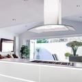 Luxair 90cm Curved Glass Island Hood - LA-90-CVD-ISL-WHT