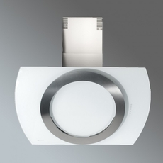 Luxair 90cm Round Glass Hood - LA-90-LUNA-WHT