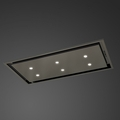 Luxair 90cm Slimline Ceiling Hood - LA-90-ANZI-EXT-BLK
