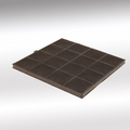 Luxair Square Charcoal Filter - CHAR-FILTER-SQUARE-2