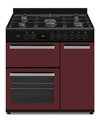 NEW WORLD NW90DF3BU 90CM BURGUNDY DUAL FUEL RANGE COOKER