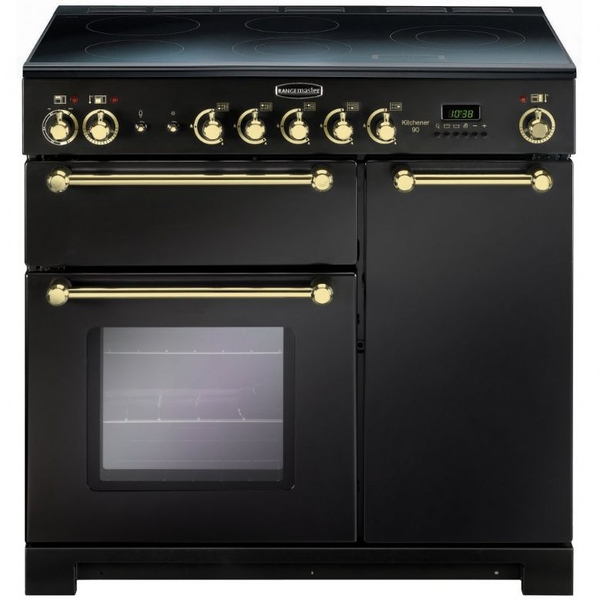 Rangemaster 90cm electric range cooker kch90ecbl b kitchener west midla - Falcon kitchener 90 inox ...
