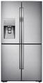 Samsung RF56J9040SR 4 Door Side by Side Frost Free Stainless Steel Fridge Freezer