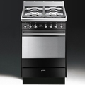 Smeg 60cm Single Cavity Dual Fuel Cooker - SUK61MBL8 (Sale)