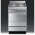 Smeg 60cm Single Cavity Dual Fuel Cooker - SUK61MX8