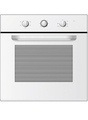 Statesman 60cm Fan Assisted Electric Single Oven - BSF60WH