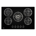 Stoves 75cm 5 Burner Gas Hob - GTG75CBLK