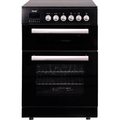 Teknix 60cm Double Oven Electric Cooker - TK61DCB