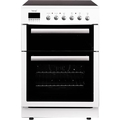 Teknix 60cm Double Oven Electric Cooker - TK61DCW