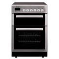 Teknix 60cm Double Oven Electric Cooker - TK61DCX