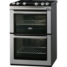 Zanussi 60cm Ceramic Double Oven Cooker - ZVC668MX