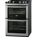 Zanussi 60cm Ceramic Double Oven Cooker - ZVC668MX