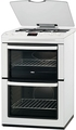Zanussi 60cm Double Oven Gas Cooker - ZCG661GWC